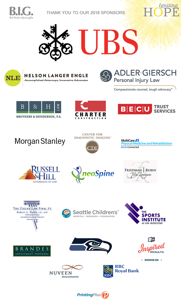 Our 2018 Gala Sponsors